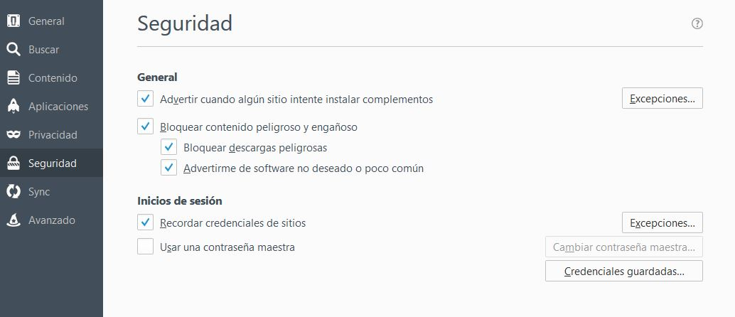 contrasenas facebook firefox