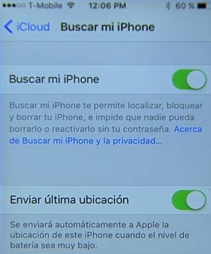activar buscar mi iphone