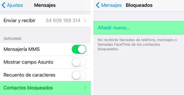 bloquear mensajes sms para iphone