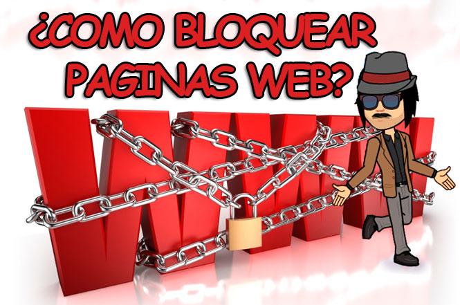 como bloquear paginas sitios web