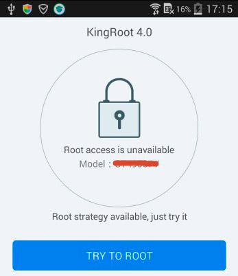 iniciar kingroot