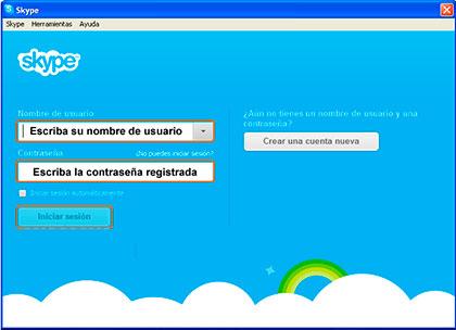 nombre usuario skype instalar