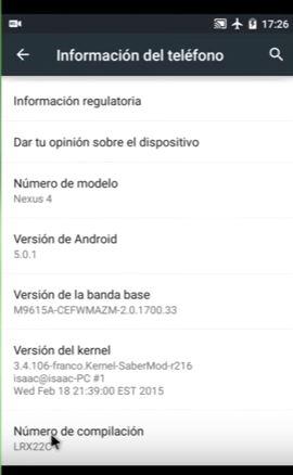 opciones desarrollo android instalar